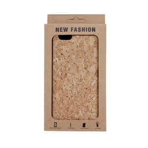 Gold supplier high quality natural oak cork cell phone case for iphone