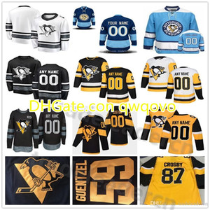 Cucito personalizzato Pittsburgh Penguins Mens Womens Youth Black Gold Giallo Bianco Inverno Classic Stadium Series Female Lady Kids Hockey Jerseys