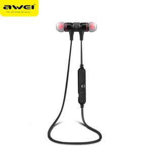 Awei A920BL Wireless Bluetooth Cuffie Bluetooth Stereo Bass Auricolare Sport Esecuzione in-ear Auricolare con microfono per iPhone 7 6 Samsung Smart Phones