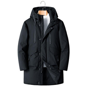 SHAN BAO 5XL 6XL 7XL 8XL Men's Hooded Long Down Jacket Classic Brand Clothing Thick Warm Comfortable Casual Loose 90% Down Coat