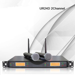 NTBD Stage Performance Home KTV True Diversity UR24D UHF Professional Wireless Microphone Headset Lavalier Automatic FM Dynamic