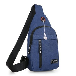 Men's Waterproof USB Oxford Crossbody Bag Anti-theft Shoulder Sling Bag Multifunction Short Travel Messenger Chest Pack For Male