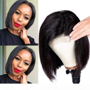 Vorgepftetes Haar-Haar-Spitze-Front-menschliches Haar-Perücke Gerade unsichtbare volle Spitze-Perücken Remy Brasilianische unetektable gebleichte Knoten Frontal Perücke