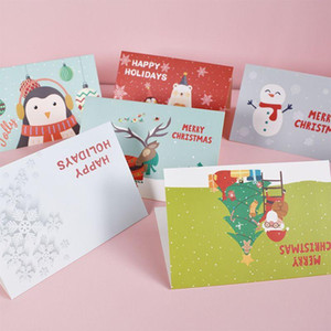 Christmas Greeting Cards Delicate Christmas Themed Blessing Card DIY Xmas Paper Invitation Card with Envelope New Year