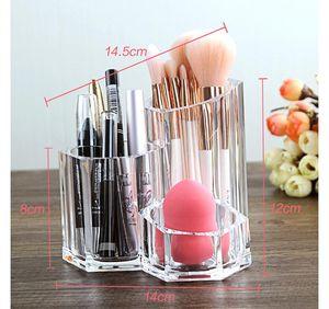PS Cylindrical Makeup organizer Home Storage Box Makeup Brush Organizer Sponge Holder Eyebrow Pencil