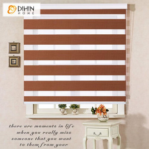Dihin House Custom Make Blackout Двухслойное ролик roller Zebra Blinds Windows для гостиной 10