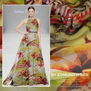 New spring and summer silk chiffon fabric silk fabric for dress scarf handmade DIYChinese brocade cheap fabrics1