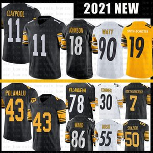 Diontae Johnson Polamalu Joe Haden Haden 11 Chase Claypool Football Jersey Ward Ryan Shazier Alejandro Villanueva T.J. Watt Jerome Betti