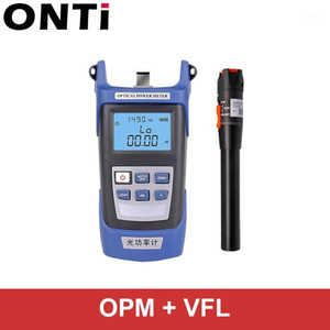 ONTi Fiber optic tool kit FC SC Connector VFL OPM Optical Power Meter Laser Source and Visual Fault Locator 1 10 20 30mW 5-30km1