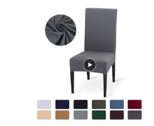 Solid Color Chair Cover Stretch Spandex Elastic Slipcovers Chair Covers White For Dining Room Kitchen Wedding Banquet Hotel