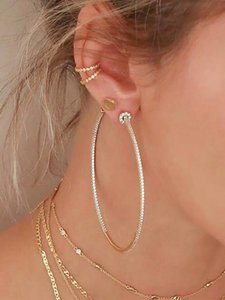 Timeless Wonder Crystal Zircon Oversized Circle Statment Drop Earrings Women Jewelry Gothic Top Runway Trendy Ins 3228