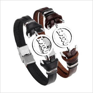 Lovers Bracelet Charm I Love You Leather Bracelet Couple Bracelets Cheap Couple Jewelry For Men and Women Valentine's Day Gift