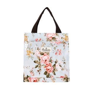 Nova bolsa de tote requintado para mulheres românticas padrão de flor de londres saco de ombro eco amigável pvc saco de compras
