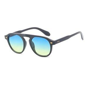 Offray Frauen Sonnenbrille Marke Designer Runde Form Retro Mode Kunststoff Material Linsen Vintage 92106 UV400 Schutz Brillen