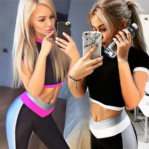 Gym Clothing Workout Clothes Women Yoga Set Woman Sportswear Fitness Suit Female Leggings Sports Bra Sport Outfit Y200413