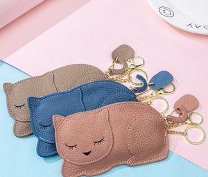 Coin purse 5 colors fashion women purses cat pattern wallets for girl women