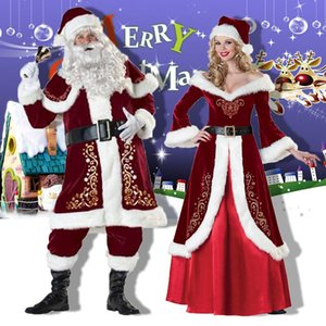 Christmas Costumes for Adult Men and Women Santa Claus Christmas Dress Christmas Couple Costumes Cosplay