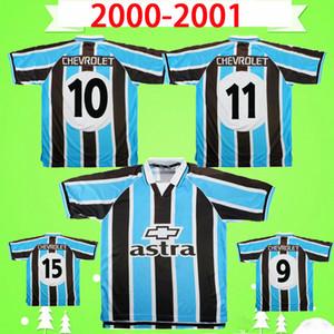 2000 2001 gremio retro soccer jersey Ronaldinho ZINHO NENE WARLEY Gremio Porto Alegre home blue black vintage old classic football shirt