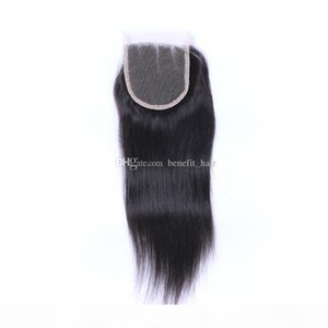 "Free Shipping 4X4 Ear To Ear Full Base Lace Frontal Closure 8A Brazilian Sliky straight Lace Frontals With Baby Hair 8""-24""Inch"