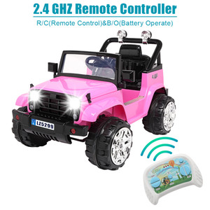 12V Kids Ride on Car Electric Stroller with Dual Drive W Remote Control 3 Color Christmas Gifts