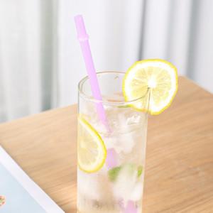 PP-Material Saugrohre Multicolour Wiederverwendbare Trinkhalm-Verdickung Durchscheinender Tubularis-Verschluss Home Bar Glass Cup NEU 0 2SZ N2