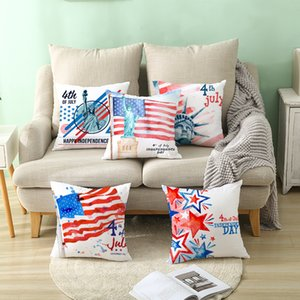Pillow Cover USA American Flag Decorative Pillow Case Home Decor 18x18 Inches Pillowcase for Home Decor Party Decoration Sofa Cushion Covers