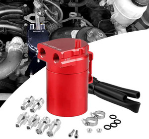 Universal 300Ml Car Oil Catch Reservoir Breather Can Tank + Filter Kit Cylinder Aluminum Engine Professional Stylish And Portable Hot Sale
