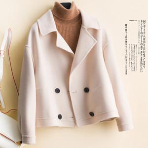 100% Merino Wool Autumn Winter Thick Warm Overcoat Women Long Sleeve Jacket Coats Warm Ladies The New Fashion 2020 Cardigan