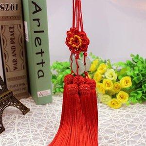 1 stück Sun blüht Chinesische Knoten Jade Tassel Keychain Caps Riemen DIY Schmuck Machen Charms Anhänger Handwerk Zubehör Handwerk Tassel H Jllfeu