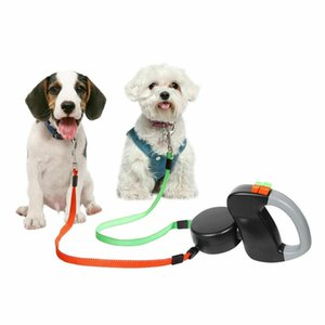 9.8FT Retractable Pet Dog Double Lead Leash Tangle Dual 2 Dog 50bs Pounds Per Dog