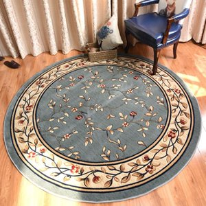 Thick Round Carpet Livingroom Pastoral Rugs For Bedroom Home Decoration Dining Room Floor Mat Computer Chair Rugs And Carpets
