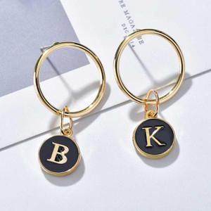 Fashion Initial Brincos de Carta Damas de Presente Borla Presente Bonito Alfabeto Gota Brincos Everyday Jóias Brincos1