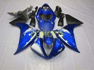 Кузов для синего белого черного черного Yamaha Yzfr1 мотоцикл ABS пластиковый комплект для впрыска набор кузов для YZF R1 2012 2013 2014 12 13 14 YZF-R1