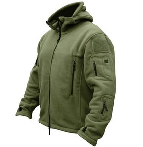 Military Man Fleece Camping Tactical Softshell Jacket Polartec Thermal Polar Hooded Coat Breathable Outdor Army Hiking Clothes Q1202