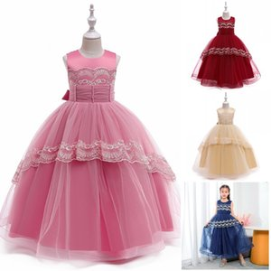 Summer Flower Dress Birthday Princess Dress For Kids Girl Bridesmaid Ball Gown Girls Lace Dress Wedding and Party Dresses