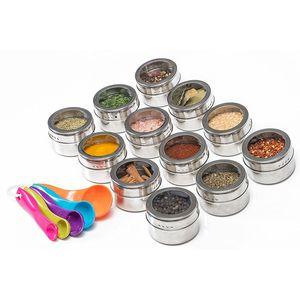 Lagerung Würzen Flasche kann Pfeffer Salz Küche Wesentliche Im Freien Barbecue-beweglichen Edelstahl-Behälter-Küche kann CYF4555