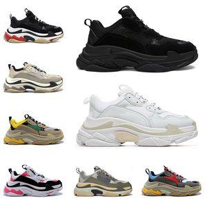 triple s shoes masculino feminino sapatos plataforma preto branco rosa cinza verde bege tênis moda masculina tênis casual corrida caminhada tamanho 36-45