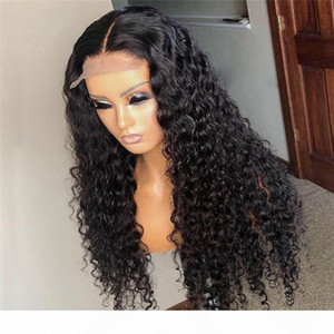 Curly 5x5'' Silk Top Lace Front Human Hair Wigs For Black Women Remy Brazilian Malaysian Preplucked Baby Hair Bleached Knots