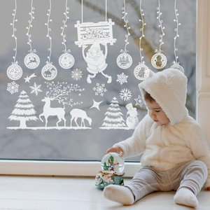 Christmas Tree Rotating Sculpture Train Window Stickers Merry Christmas Decor For Home Xmas Ornaments Navidad 2020 New Year 2021 jlloXW
