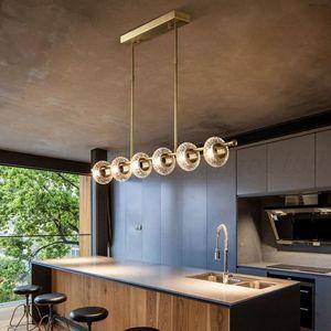 Copper Luxury Living Room Chandeliers Multi-head LED Postmodern New Lighting Hanging Fixtures Villa Lobby Crystal Art Chandelier