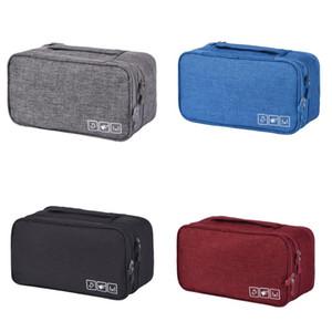 Cor pura compõem saco portátil Artigos de viagem cátion alta capacidade impermeável tecido peúgas recepcionistas sutiã sacos de armazenamento 13 5hk j2