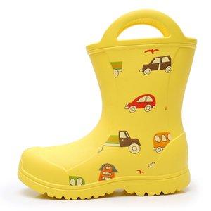 Apakowa Çocuklar EVA Su Geçirmez Yağmurlu Gün Unisex Su Yürüyor Sevimli Karikatür Baskı Yağmur Çizmeleri Çocuklar için