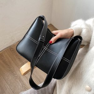 Casual Simple Women's Pouches 2020 Autumn and Winter New Fashion Popular One Online Influencer Wild Shoulder Bag Q1119