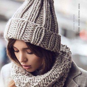 New Arrival Stylish Autumn Winter Warm Women Braided Crochet Wool Knitted Beanie Beret Ski Ball Cap Baggy Solid Hat Skullies