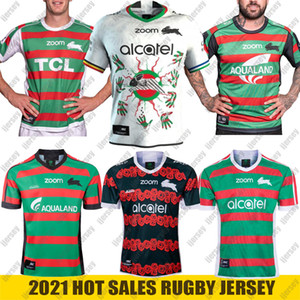 2021 NUEVO Sur Sydney Rabbitohs Home Anzac Indígena Rugby Jersey 2020 NRL Liga de Rugby Jerseys Shorts Australia Maillot de Rugby S-5XL
