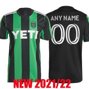 Yeni Açılış Austin FC futbol formaları 2021 2022 MLS Ana kiti siyah yeşil 21 22 formalarını camisetas de fútbol maillot de foot tayland