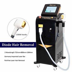 آلة الليزر الصمام الثنائي المهنية 3 الطول الموجي 808nm 755nm 1064nm الثلاثي lazer الشعر إزالة الكسندريت القضاء على الشعر المعدات