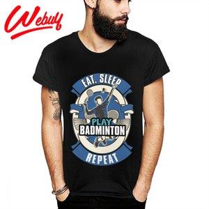 Populaire amant de badminton cadeau coton T-shirt col rond Nouveau Arrivée Plus Size T-shirt 1117
