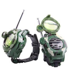 2pcs / 세트 Talkie 시계 아이 키즈 시계 야외 게임 인터폰 마법의 시계 선물 어린이 장난감 워키