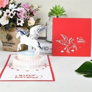 1 Handmade Happy Birthday 3d Pop-up Greeting Card Gift Cake Card With Envelope Postcard Invitation Anniversary Decoration